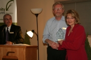The 2012 Continued Success Community Impact Award was given to Kay Louise Currier, Notary Public of Grand Forks. Photo Erin Perkins.